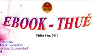 Ebook thuế 04/2018