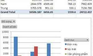 Sử dụng Pivot chart tạo biều đồ tự động theo tùy chọn người dùng