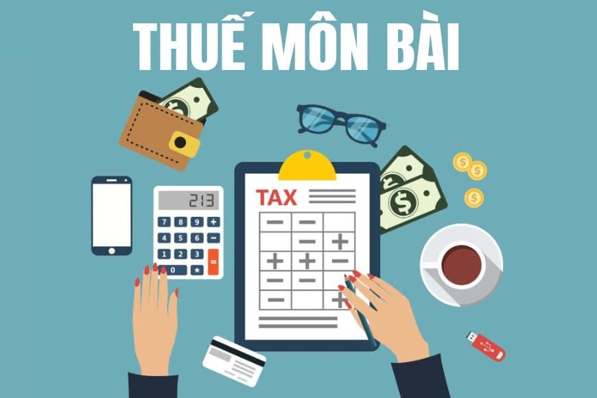 thuế môn bài 2019 2020